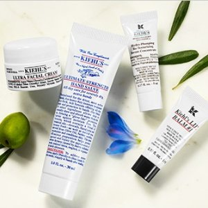Get 1 deluxe sample forevery $25 you spend @ Kiehl's