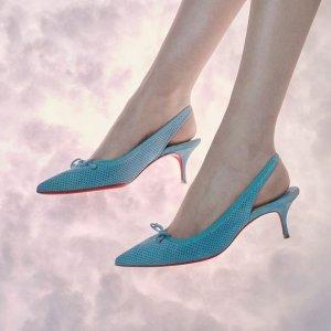 气质红底配夏日新色Christian Louboutin 美鞋上新 小白鞋$595