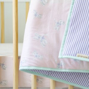 Burt's Bees BabyWatercolor Dragonfly Organic Reversible Baby Quilt
