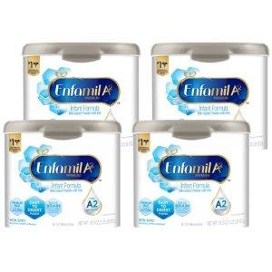 Enfamil送$10电子礼卡婴儿A2配方奶粉19.5盎司*4罐装