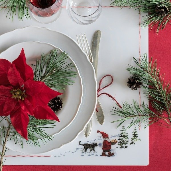 圣诞老人图案餐垫