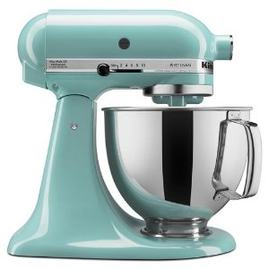 KitchenAidAqua Sky Refurbished Artisan® Series 5 Quart Tilt-Head Stand Mixer RRK150AQ | KitchenAid