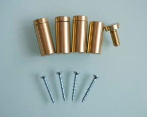 16 Individual Gold Stand-Off Hardware Bolts  Custom Listing