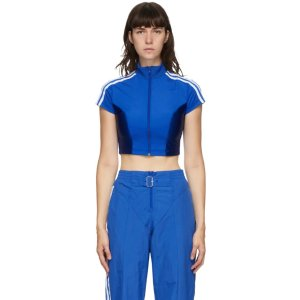 adidas Originals蓝色短款上衣