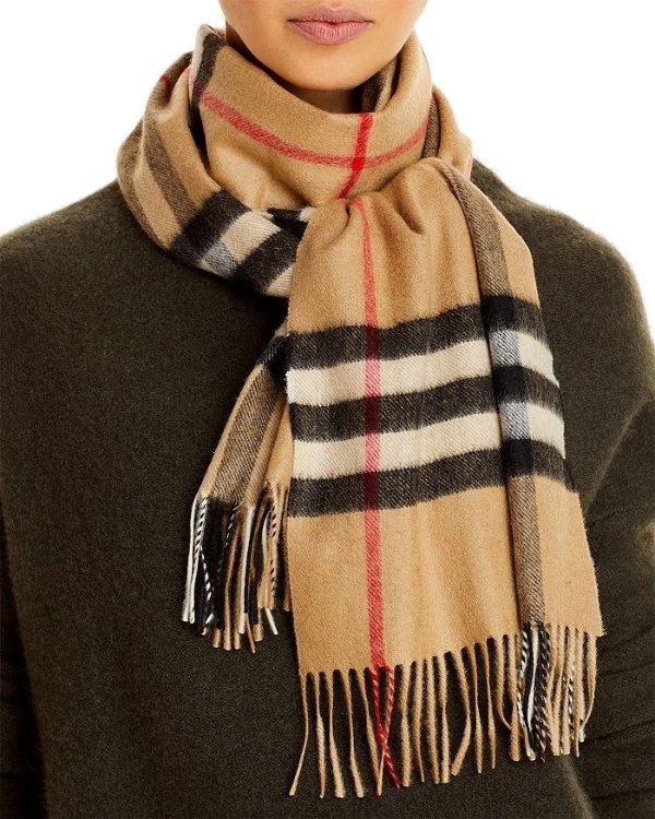 Classic Check 格纹羊绒围巾