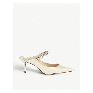 21dcba043943 Jimmy ChooBing 65 crystal-embellished patent-leather heeled mules