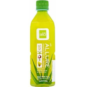 $15.88 ALO Allure Aloe Vera Juice Drink, Mangosteen + Mango, 16.9 Ounce (Pack of 12)