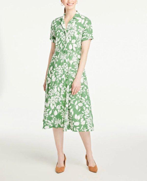 绿色花朵裙