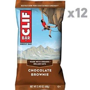 $7 收12条~超低价收CLIF BAR 巧克力布朗尼口味能量棒 12条装