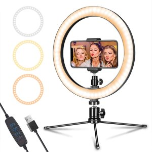 """Ending Soon:LED Ring Light 10"""" with Tripod Stand & Phone Holder"""