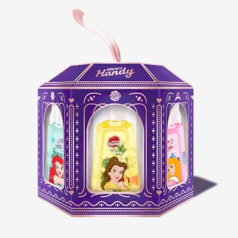 新人9折 €18收5支Merci Handy X Disney公主 高颜值免洗洗手液上新 特殊时期必备