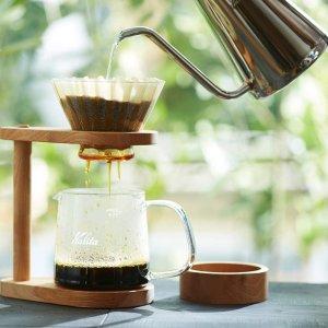 低至6折 $3.4起收咖啡用具Kalita 日本手冲咖啡用具品牌 咖啡壶、滤杯、磨豆器、滤纸