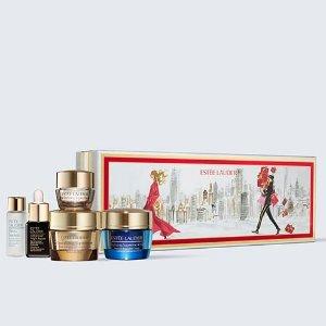 仅售$80 新人9折Estee Lauder 智妍5件套 内含面霜、微晶水、小棕瓶