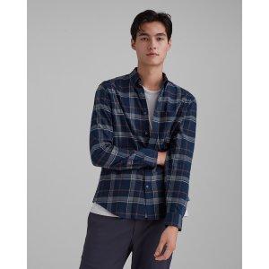 Club MonacoOpen Plaid Flannel Shirt