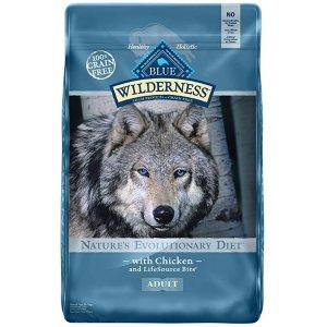 Blue Buffalo Wilderness 高蛋白质无谷狗粮 11lb