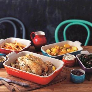 Le Creuset可进烤箱、微波炉、冰箱、洗碗机矩形烤盘 13.8*19*5.5 cm