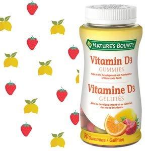 $7.1 (原价$9.37 )Nature's Bounty 维生素D3水果味软糖90粒