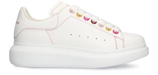 新滴胶彩扣小白鞋