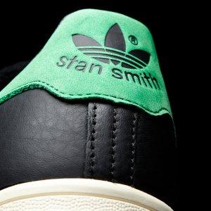 $100(原价$149.95) 包邮Adidas Stan Smith 超酷黑色绿尾运动鞋