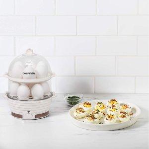 $29.99(原价$44.28)Chefman 大容量双层多功能家用蒸煮器 煮蛋 蒸菜 蒸饺蒸包子通用