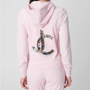 $49.99(原价$168.00)两色可选限今天:Juicy Couture官网 女士经典天鹅绒上衣特卖