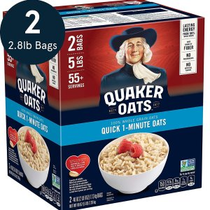 $5.38Quaker Quick 1-Minute Oatmeal Two 40oz Bags