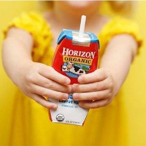 $11.13 一瓶$0.95Horizon Organic 巧克力低脂有机奶 8oz 12盒