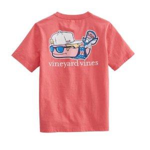 Vineyard VinesBoys Lax Bro Whale Pocket T-Shirt