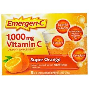 1,000 mg Vitamin C, Super Orange, 30 Packets, 0.32 oz (9.1 g) Each - Walmart.com