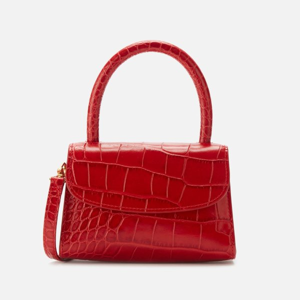红色鳄鱼纹Mini Bag