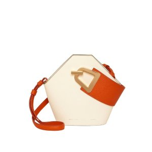 Danse LenteMini Johnny Bucket Bag In White by Danse Lente