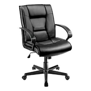 Brenton Studio黑色仿皮座椅