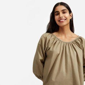 EverlaneSelena 同款不同色The Ruched 泡泡袖衬衣
