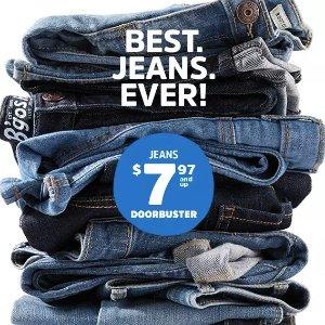 全场包邮+$7.97起 66个尺寸可选 0-14岁都有OshKosh BGosh 儿童牛仔裤 Doorbuster 优惠,