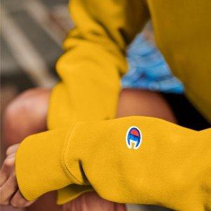 无门槛8折 新款Logo短袖£28Champion 限时新品大促开始 经典Logo卫衣、短袖全都有