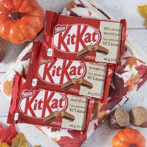 24包折后€9.89起 3中口味可选NESTLÉ KitKat 威化脆心巧克力热卖 网红休闲小零食