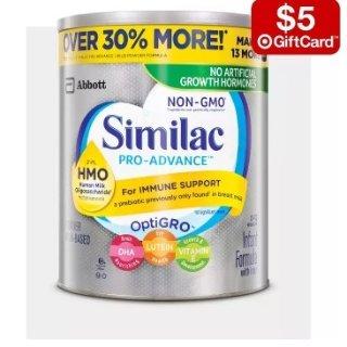 Buy 2 get a $5 gift cardFormula Powder Sale @ Target