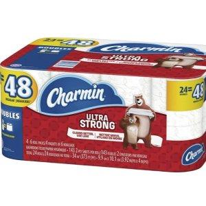$15.18(原价$19.98)Charmin Ultra Strong 4倍强韧双层卫生纸24大卷  相当于48卷