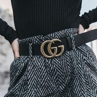 低至$324 定价优势+全球免邮Gucci 大热GG黑色腰带折上折热卖
