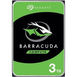 $64.99 PMR硬盘Seagate BarraCuda ST3000DM008 3TB 7200 RPM 64MB 3.5