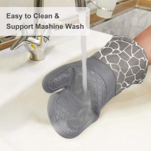 手套+防烫垫2个仅€12.7Gesentur 厨房防烫手套 100%硅胶 防烫230ºC 牢固防滑