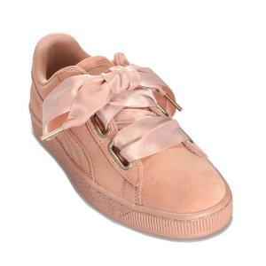码全,包税免邮到手仅¥340/双新年闺蜜鞋:Puma 丝绸蝴蝶粉色结板鞋*2双