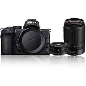 NikonZ 50 + NIKKOR DX 16-50mm f/3.5-6.3 VR + NIKKOR DX 50-250mm f/4.5-6.3 VR Twin Lens Kit, Black
