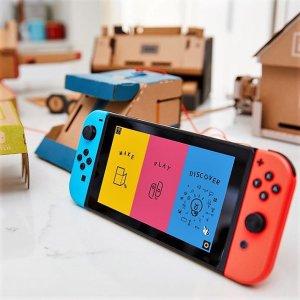 $360 聚会破冰神器Nintendo Switch Joy-Con 红蓝版主机 对自己好一点