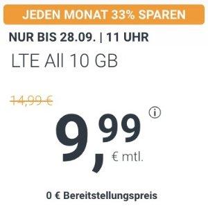 月租€9.99 免除€19.99接通费11点截止!大流量这么给力!包月电话/短信+10GB上网+欧盟漫游