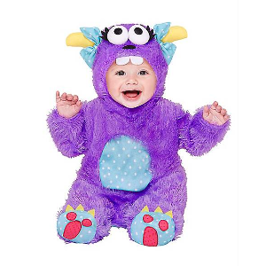Baby Faux Fur Little Purple Monster Costume - Spirithalloween.com