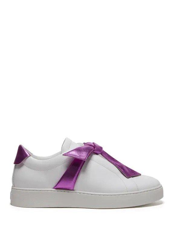 蝴蝶结小白鞋