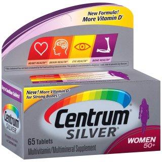 $6.59 包邮Centrum 女性复合维生素 50+,65粒