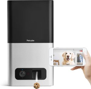 $102.99 史低价!折扣升级:Petcube 宠物互动摄像头智能零食投喂器 黑白粉三色可选