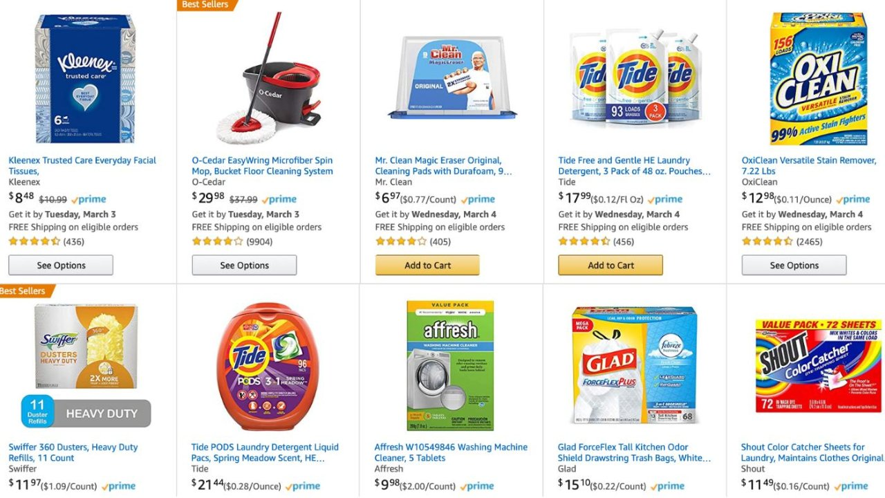 家庭消毒清洁用品清单请收好,囤货必备!Amazon 一站式全搞定(下篇)